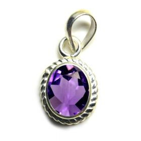 Natural Amethyst Sterling Silver Gold Plated Pendant -2.25 Ratti to 10.25 Ratti For Men Women