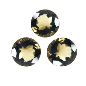 Natural Smoky Quartz Faceted 4X4 MM To 15X15 MM Round Loose Gemstone At Wholesale Price