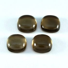 Natural Smoky Quartz Cabochon 4X4 MM To 15X15 MM Cushion Loose Gemstone At Wholesale Price