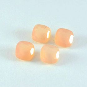 Natural Rose Quartz Faceted 4X4 MM To 15X15 MM Cushion Loose Gemstone At Wholesale Price