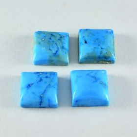 Natural Turquoise Cabochon 4X4 MM To 15X15 MM Square Shape Jewelry Making Loose Gemstone
