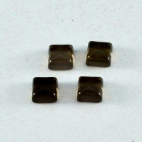 Natural Smoky Quartz Cabochon 4X4 MM To 15X15 MM Square Loose Gemstone At Wholesale Price