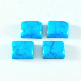 Natural Turquoise 4X6 MM To 12X16 MM Cabochon Cut Rectangle Shape Astrology Loose Gemstone