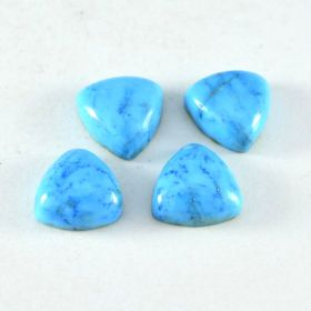 Natural Turquoise Cabochon 4X4 MM To 13X13 MM Trillion Shape Astrological Loose Gemstone