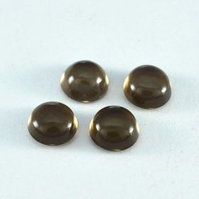 Natural Smoky Quartz Cabochon 4X4 MM To 15X15 MM Round Loose Gemstone At Wholesale Price
