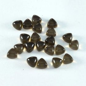 Natural Smoky Quartz Cabochon 4X4 MM To 13X13 MM Trillion Loose Gemstone At Wholesale Price