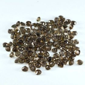 Natural Smoky Quartz Faceted 4X4 MM To 14X14 MM Heart Loose Gemstone At Wholesale Price