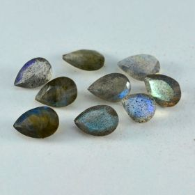 Natural Labradorite Faceted 4X6 MM To 10X14 MM Pear Shape Astrology Gemstone for Making Jewelry