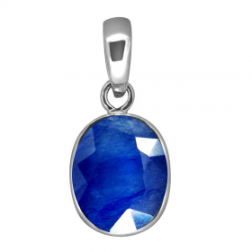 Natural Certified Blue Sapphire Faceted Oval Shape Neelam Pendant Locket  2.25 to 10.25 Ratti