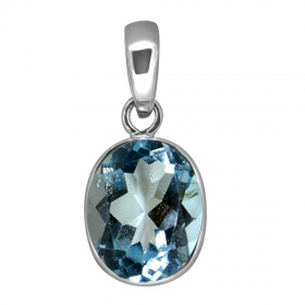 Natural Certified Blue Topaz Faceted Oval Shape Pendant Locket  2.25 to 10.25 Ratti