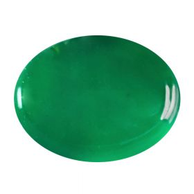 Natural Oval Cabochon Green Onyx Hakik Loose Gemstone 2.25 - 8.25 Ratti Birthstone