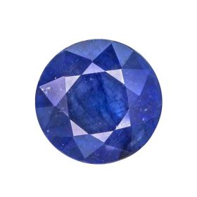 Natural Blue Sapphire Gemstone 2.25 - 8.25 Ratti Faceted Neelam Round Shape