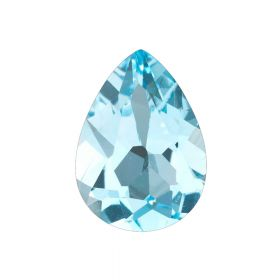 Natural Pear Shape Blue Topaz Faceted Loose Gemstone 2.25 - 8.25 Ratti Birthstone