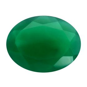Natural Faceted Oval Green Onyx Hakik Loose Gemstone 2.25 - 8.25 Ratti Birthstone Rashi Ratan