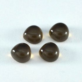 Natural Smoky Quartz Cabochon 4X4 MM To 14X14 MM Heart Loose Gemstone At Wholesale Price