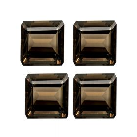 Natural Smoky Quartz Faceted 4X4 MM To 15X15 MM Square Loose Gemstone At Wholesale Price